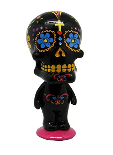 Fantasy Gifts Black Sugar Skull Man Mexican Day of the Dead Bobble Head Figurine -