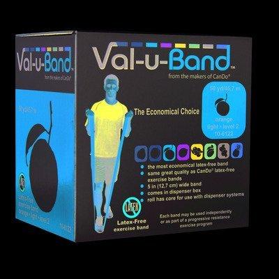 Val-U-Band 10-6122 Latex Free Exercise Band, Orange by Val-u-Band