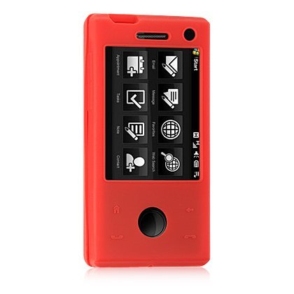 Htc Touch Pro Skin (HTC Fuze / Touch Pro GSM (AT&T) Red Premium Silicone Skin Case)