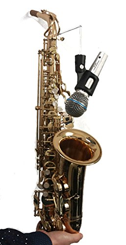 Saxophone Microphone Clip-on Clip Sax Wireless Mic Holder Stand by sleeri