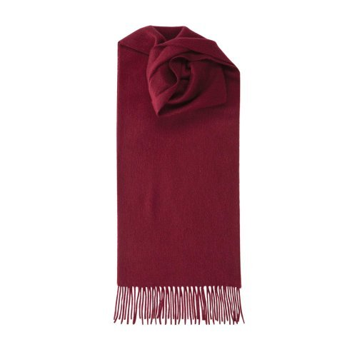 Johnstons Of Elgin Women's Pure Cashmere Plain Scarf Bordeaux One Size by Johnstons of Elgin