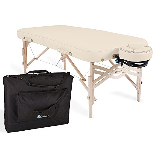 """EARTHLITE Spirit Premium Portable Massage Table Package - Spa-Level Comfort, Deluxe Cushioning incl. Flex-Rest Face Cradle & Strata Face Pillow, Carry Case (30/32"""" x 73"""")"""