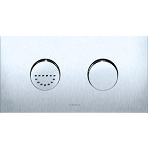 Caroma 237011S Invisi Rectangle Dual Flush Plate with Rou...