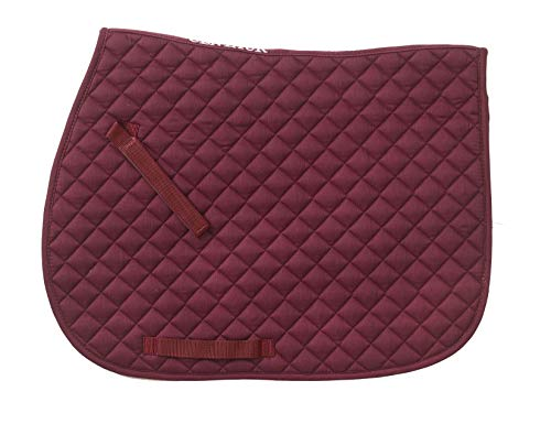 Imperial Saddle - Centaur-Imperial All Purpose Saddle Pad Burgundy/Burgundy
