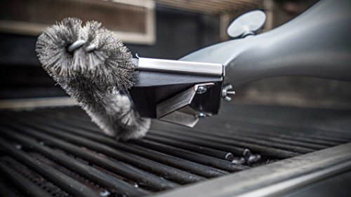 Grill Daddy Safety Clean Grill Brush Value Pack — Steam Cleans Grills Easily and Quickly — Bristles are Locked in Place — Safe on All Surfaces — Melts Grease — Two Replacement Brushes Included