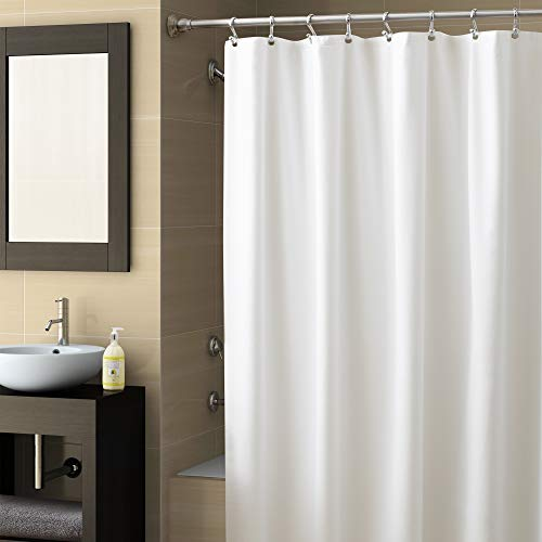 Ex-Cell Home Fashions Best Quality 70' by 78' Vinyl Shower Curtain Liner, White