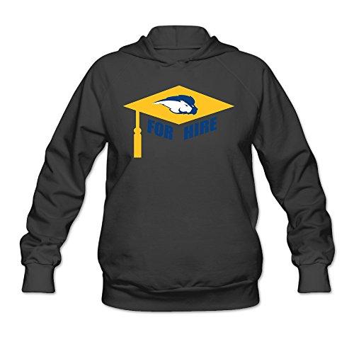 CYANY Hofstra University Pride For Hire Women's Casual Hoodies Hooded Sweatshirt XXLBlack (Hofstra Costume Shop)