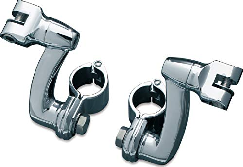 Kuryakyn 7986 Motorcycle Foot Control Component: Longhorn Offset Footpeg Mounts with Magnum Quick Clamps for 1-1/4