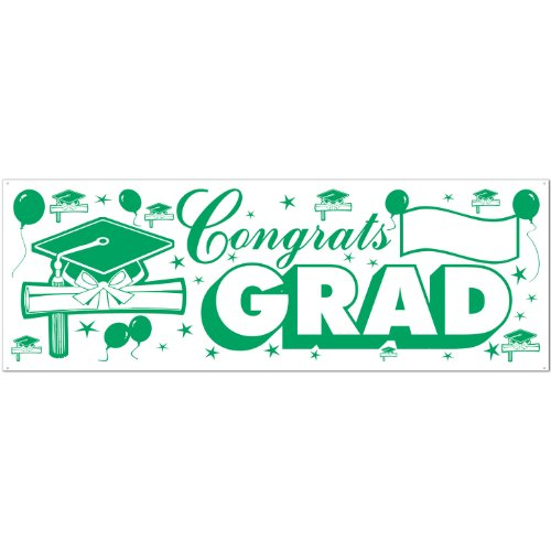 Congrats Banner green white Accessory