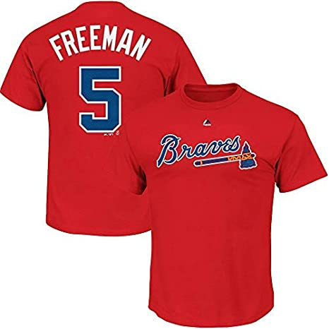 7a3cb91a Outerstuff Freddie Freeman Atlanta Braves MLB Majestic Youth 8-20 Red  Official Player Name &