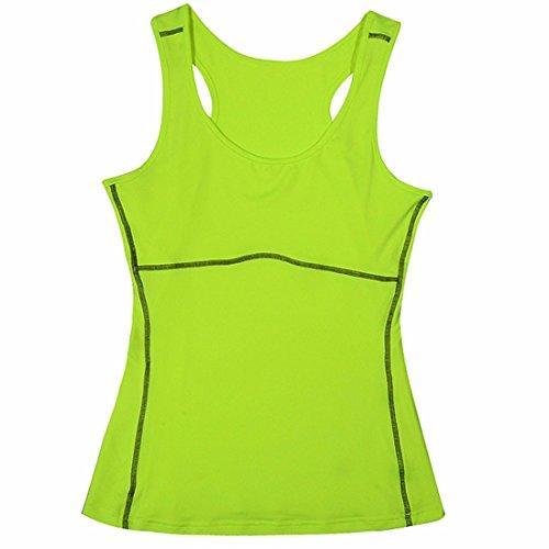 yoga femmes mince veste de jogging Tennis gymnase citernes de formation moulante de sport de haut chemises