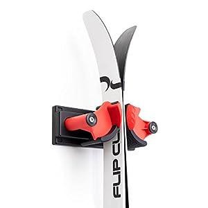 Flip Clip Support de ski mural pour garage et cave, montage facile jusqu'à 12 kg
