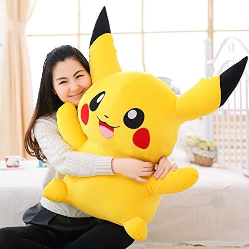 PampasSK Stuffed & Plush Animals - Cute Soft Plush Cartoon Anime Yellow Laughing Pikachu Toy Doll,Creative Graduation & Birthday Gift for Children and Lover 1 PCs