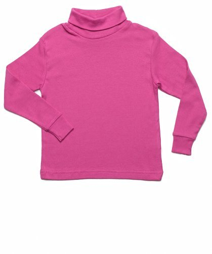 Leveret Solid Turtleneck 100% Cotton (5 Toddler, Magenta) - Kids Magenta Apparel