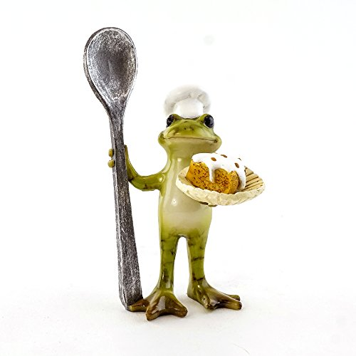 (Top Collection The Master Chef Frog 3.75-Inch Mini Collectible Figurine)