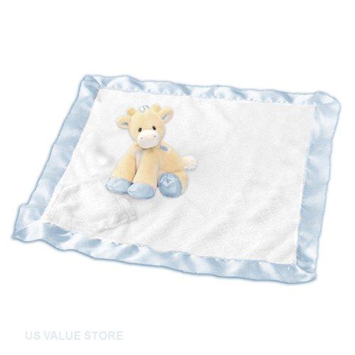 Baby Boy Rattle Giraffe and Blanket, Tender Beginnings Buddyluvs-Blue ()