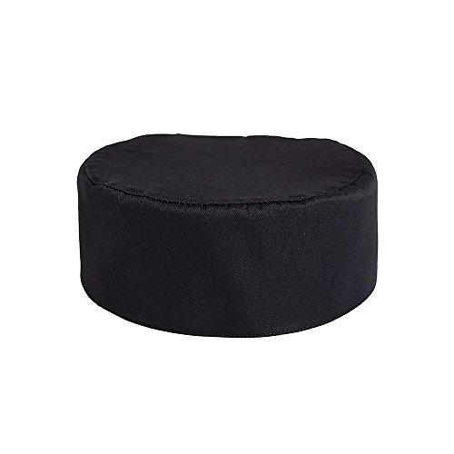 KNG Pill Box Chef Cap, Black