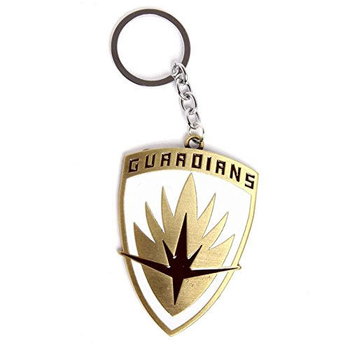 Guardians Of The Galaxy Keyring Keychain Metal Shield Logo Official Marvel
