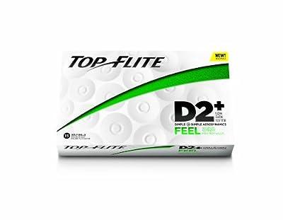 Top-Flite D2+ Feel Golf Balls (15 Pack, White)