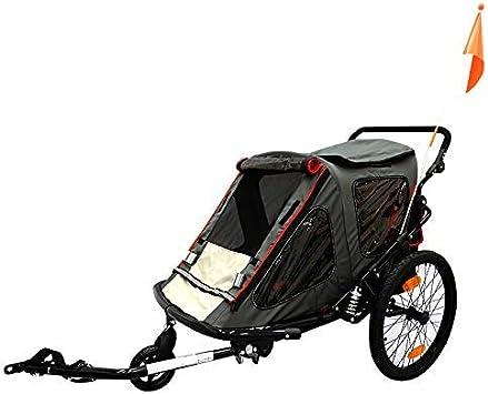 HJTLK Remolque para niños de Bicicleta de 2 plazas - Se Convierte ...