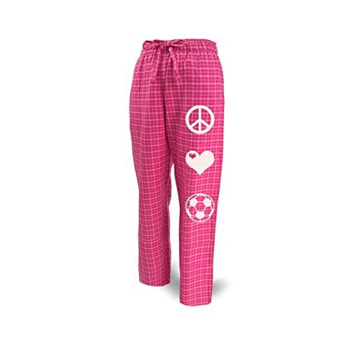 ChalkTalkSPORTS Soccer Lounge Pants Peace Love Soccer Pink