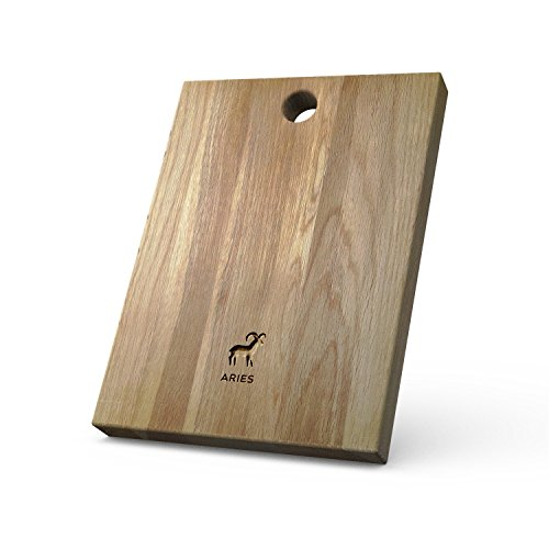 Personalized Wooden Chopping Board with Zodiac - Aries design - Solid Oak, Ideal for Chopping / Cutting or Presenting your food - A Perfect Gift for Friends and Loved Ones.