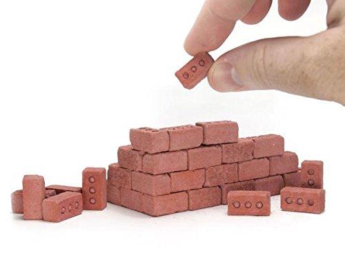 Mini Red Bricks - 50 Pack (1:12 Scale) Mini Materials
