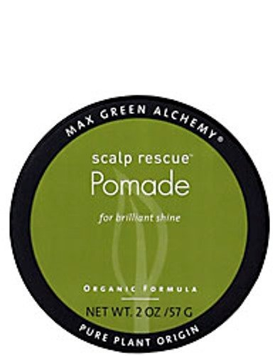 Scalp Rescue Pomade Puck (2 Ounces) - Organic Formula For Brilliant Shine, Deep Hair Conditioning, Unisex, Nourishing, Color Safe, Prevents Split Ends, Vegan from Max Green Alchemy