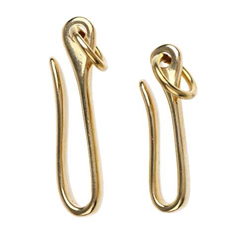 (NATFUR 2pc Vintage Brass Belt Fish U Hook Loop Keychain Key Ring Leather Accessory Elegant Novelty Key-Chain for Women for Girls for Gift Elegant Novelty Beautiful)