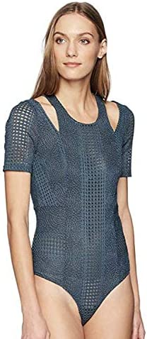 BCBGMAXAZRIA Womens Gwenyth Cutout Lace Bodysuit