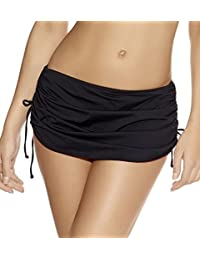 Crazycatz@Women Mix Skirted Bikini Brief Bottoms Plus Size Swim Skirt