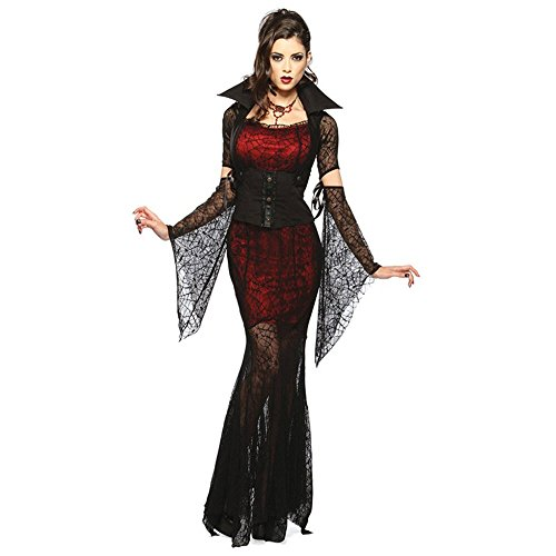 Spiderweb Costumes Contact Lenses (Hot Sale 2017 5 Pieces Adult Halloween Vixen Vampire Costume Robes Fancy Cosplay Dress Holiday Gifts)