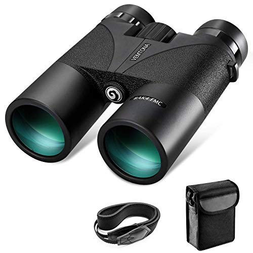 12x42 Binoculars for Adults, VEMTONA Professional Binoculars Compact for Hunting Bird Watching Outdoor Sports, Waterproof Fog-proof HD Optics Telescope BAK4 Prism FMC Lens with Neck Strap Carrying Bag