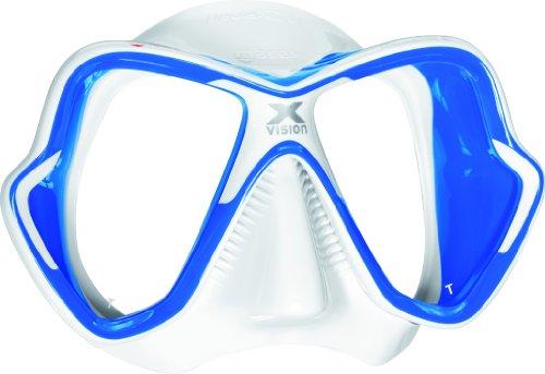 - Mares X-Vision Liquid Skin Dive Mask, Blue/White