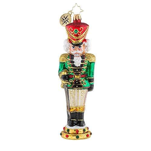 - Christopher Radko Attention Nutcracker Glass Ornament