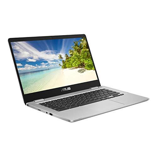 ASUS 14 inch Chromebook C423NA (Intel Celeron N3350, 4GB RAM, 64GB eMMC, Chrome OS), Silver