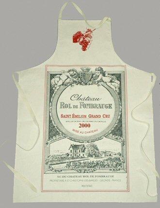 FRENCH VINTAGE SOMMELIER'S APRON 72x96cm FRENCH WINE VIN BORDEAUX ST (St Emilion Bordeaux)