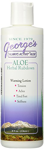 George's Aloe Vera Herbal Rubdown - 8 Fl Oz, 8 (Georges Aloe Vera Lotion)