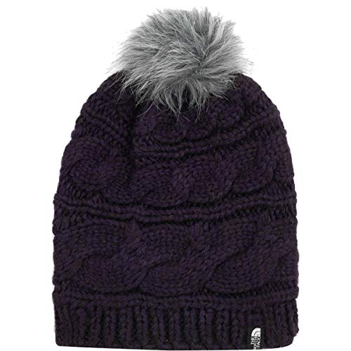 (The North Face Triple Cable Fur Pom - Galaxy Purple - OS)