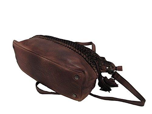 LandLeder geflochten von Hand echte Leder Tasche Umhängetasche Leder Schultertasche Shopper verschiedene Modelle -präsentiert von RabamtaGO®- uiGZqBPn