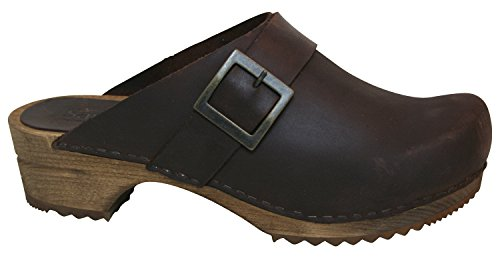 Sanita Women's Urban Open Mule & Clog 453062 Antique Brown Leather Casual 5 UK 38 M EU (Leather Brown Top Antique)