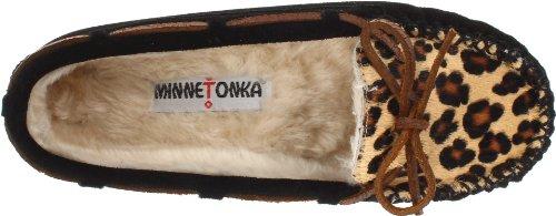 Women's Moccasin Slipper Cally Minnetonka Black Leopard 8ndq8xH
