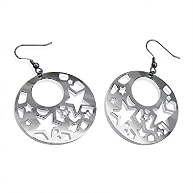 Amazoncom Liara Stainless Steel Filigree Earrings 316l Surgical