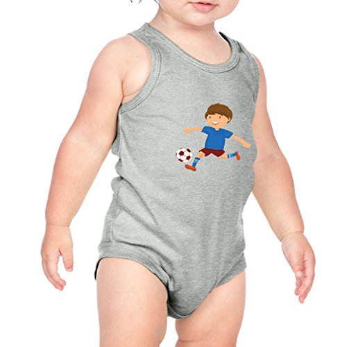 Kokopelli Band - Cute Rascals Kokopelli Soccer Player Soccer Combed Ring-Spun Cotton 3/8 Neck Band Unisex Infant Bodysuit One Piece - Heather Gray, 24 Months