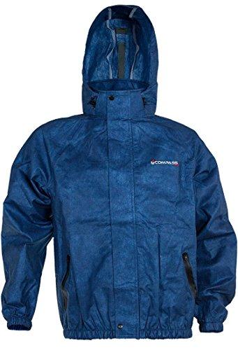 COMPASS 360 Advantage Tek Non-Woven Rain Jacket, Medium, Royal Blue