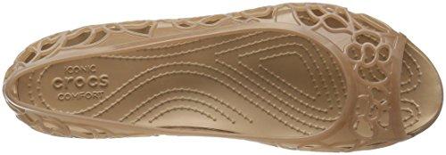Crocs Kvinders Isabella Gelé Flad Bronze / Guld Y39LC2Pjr