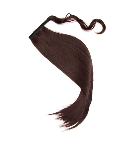 MyBeautyworld24 Haarteil Zopf Pferdeschwanz zum anklipsen Haarverlängerung Pony in der Farbe braun NEU