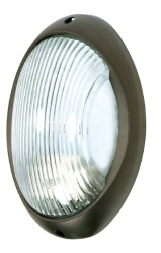 Nuvo Lighting 60/527 Bulkhead 1-Light Large Oval 60W A19, Architectual Bronze