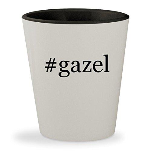 #gazel - Hashtag White Outer & Black Inner Ceramic 1.5oz Shot - Gazel Glasses