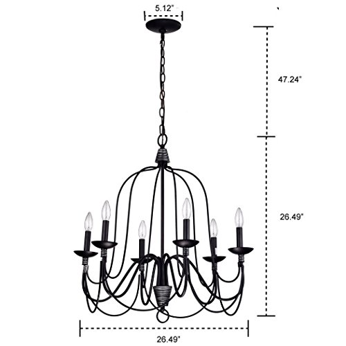 CLAXY Ecopower Lighting Industrial Vintage 6-Lights Candle